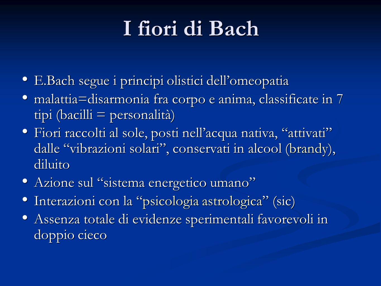 I fiori di Bach E.Bach segue i principi olistici dell'omeopatia