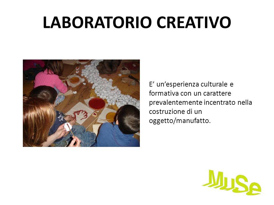 LABORATORIO CREATIVOE' un'esperienza culturale e formativa con un carattere prevalentemente incentrato nella costruzione di un oggetto/manufatto.