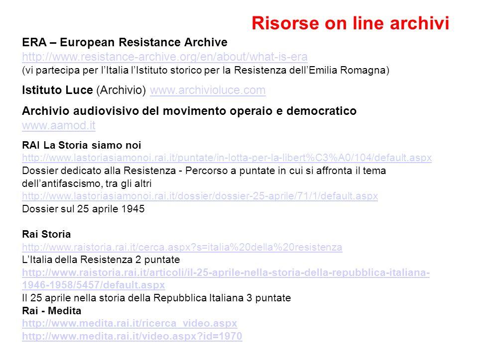Risorse on line archivi