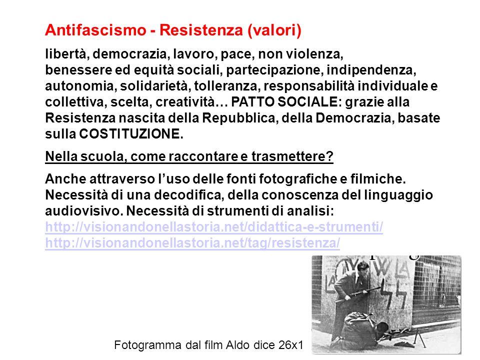 Antifascismo - Resistenza (valori)
