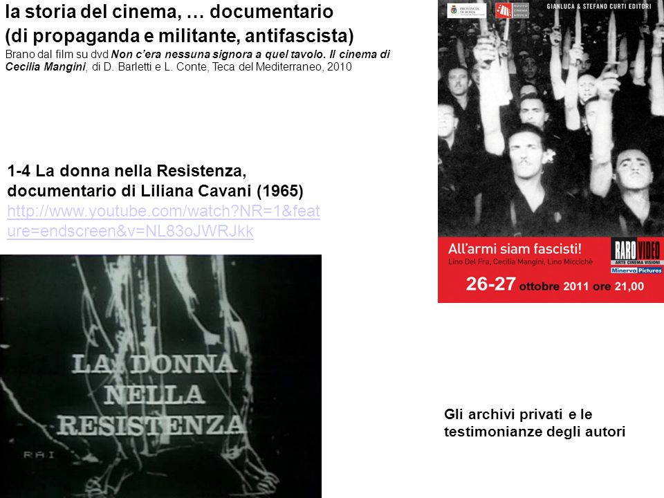 la storia del cinema, … documentario