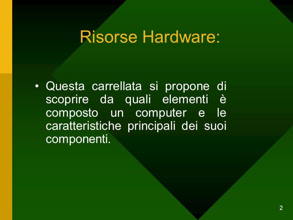 Risorse Hardware: