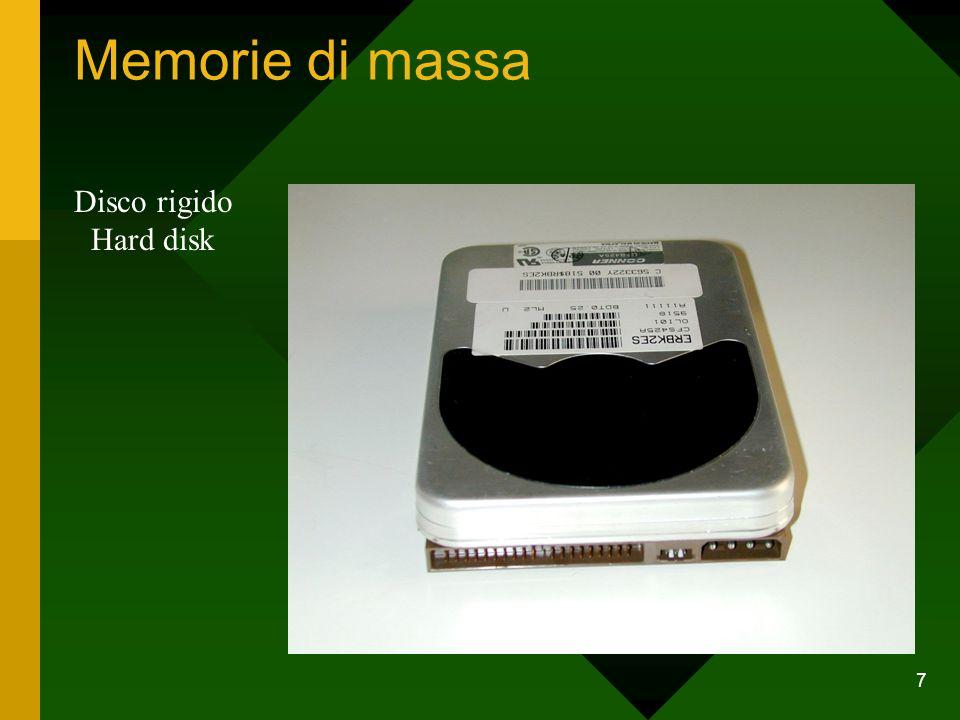 Memorie di massa Disco rigido Hard disk