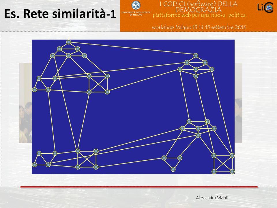 Es. Rete similarità-1 Alessandro Brizioli