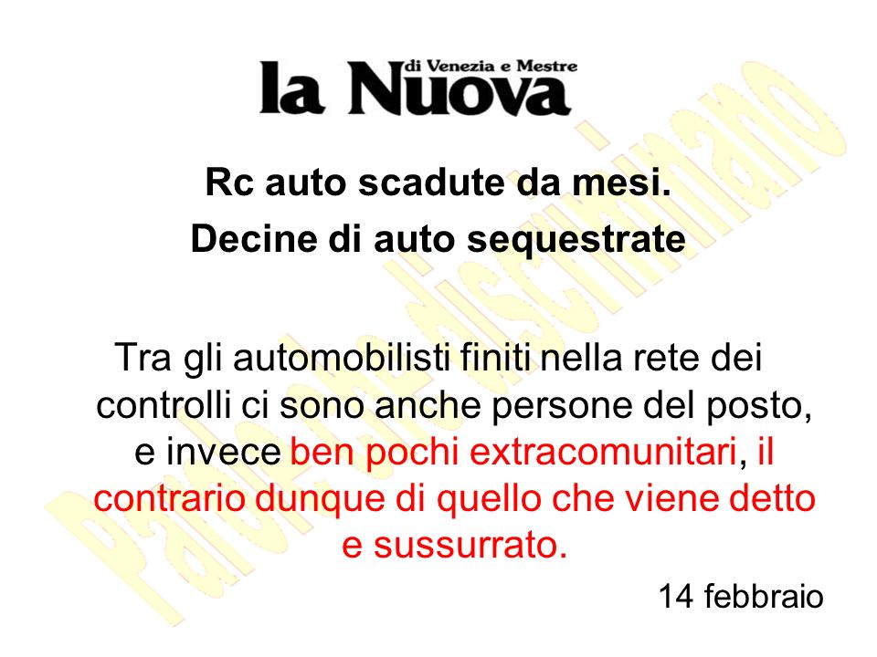 Decine di auto sequestrate