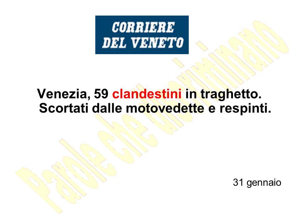 Venezia, 59 clandestini in traghetto
