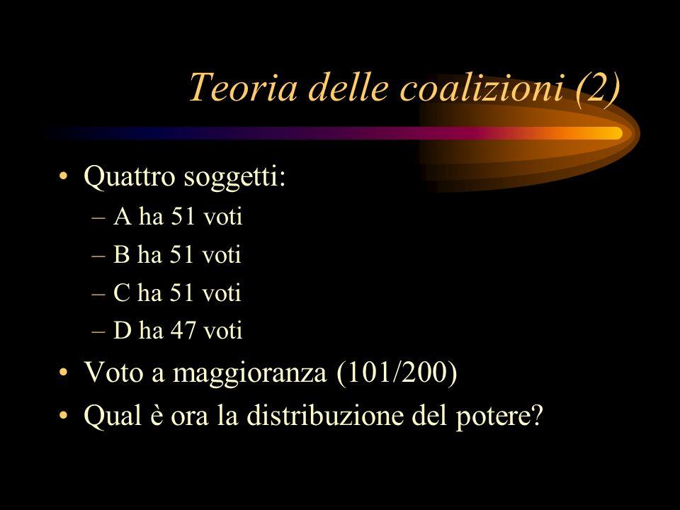 Teoria delle coalizioni (2)