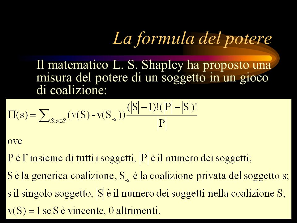 La formula del potere Il matematico L. S.