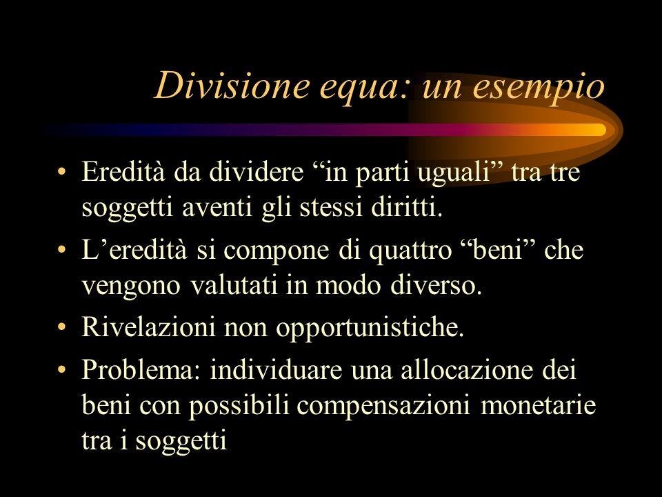 Divisione equa: un esempio