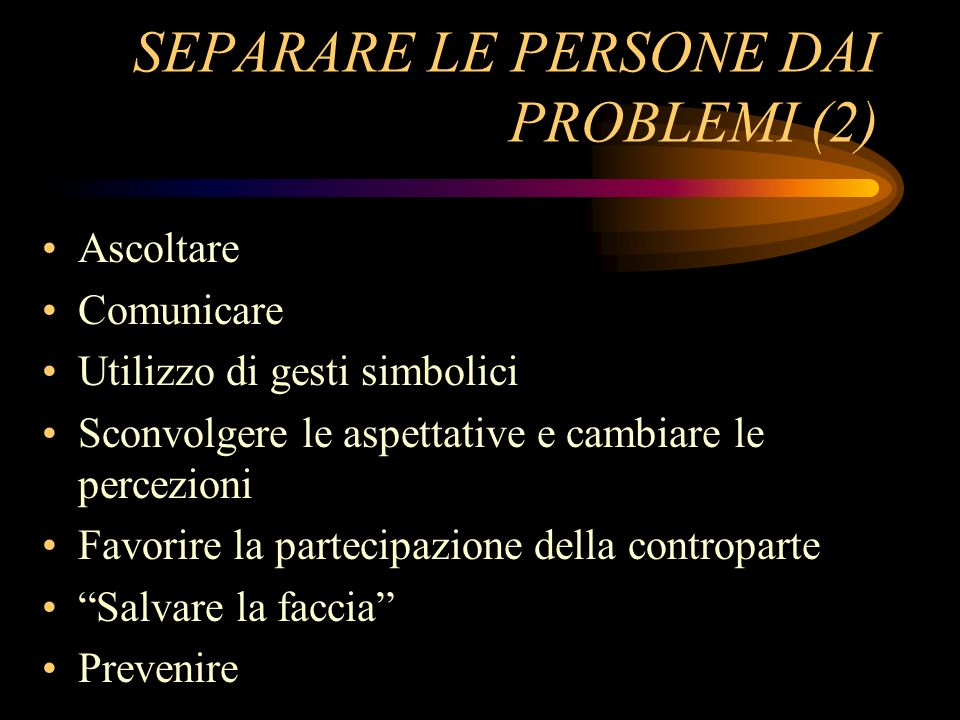 SEPARARE LE PERSONE DAI PROBLEMI (2)