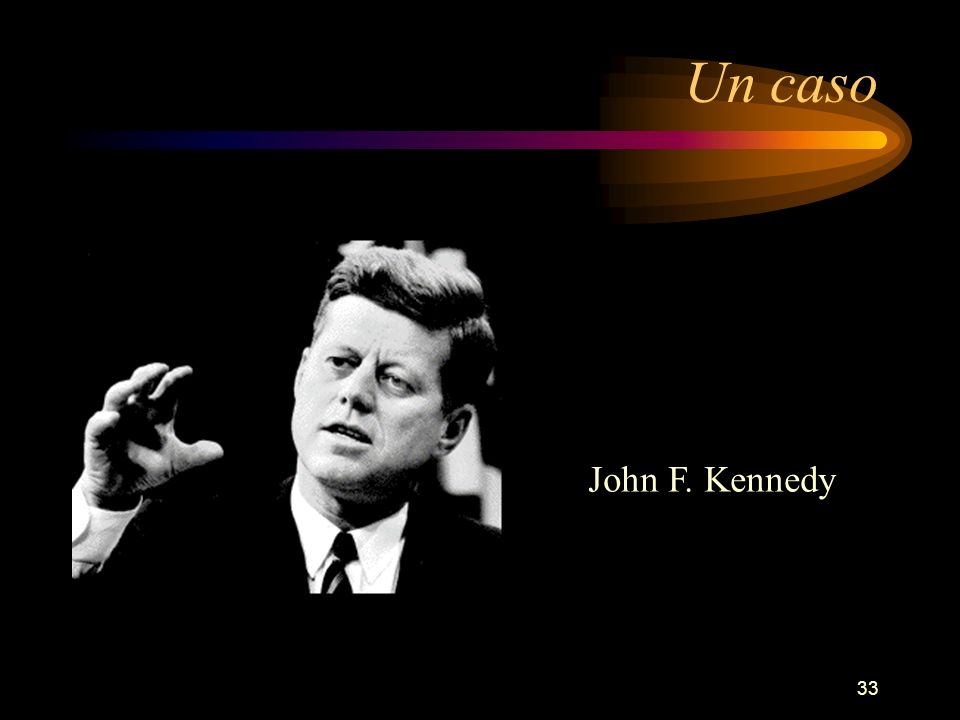 Un caso John F. Kennedy