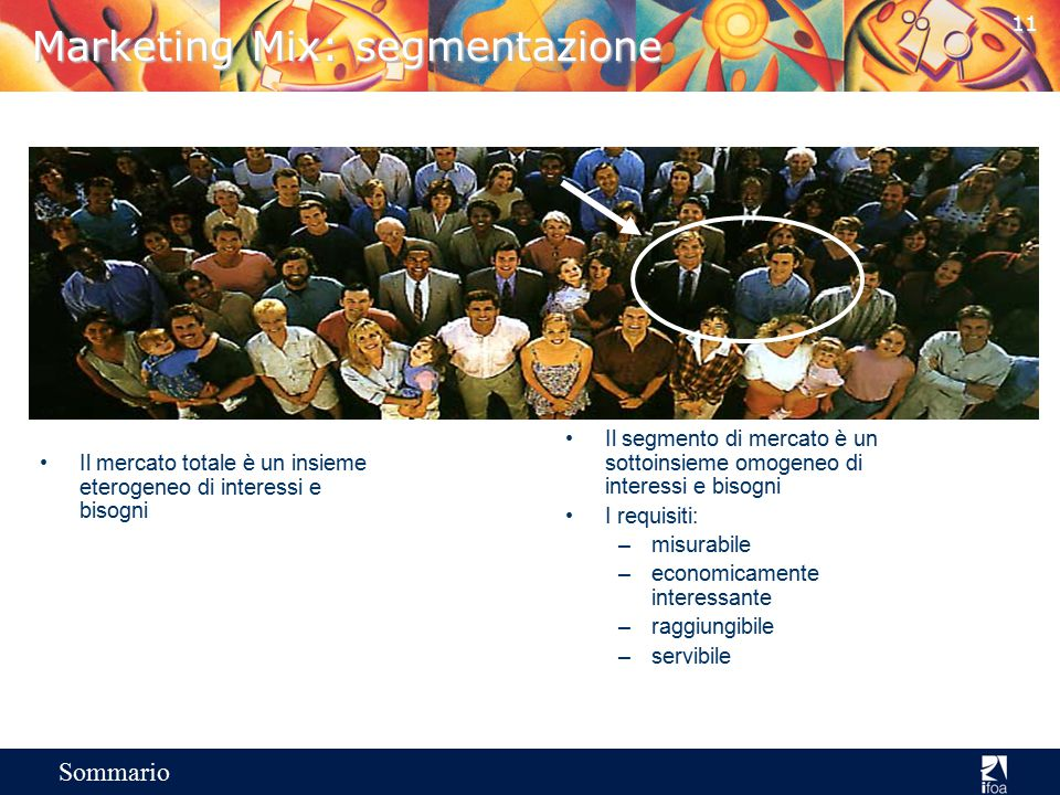 Marketing Mix: segmentazione