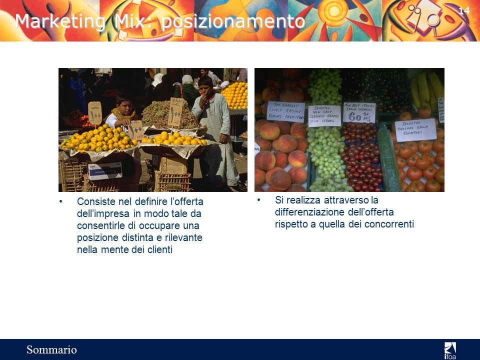 Marketing Mix: posizionamento
