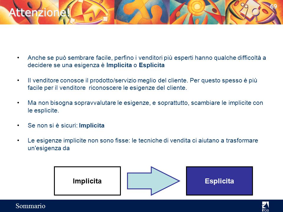 Attenzione! Implicita Esplicita