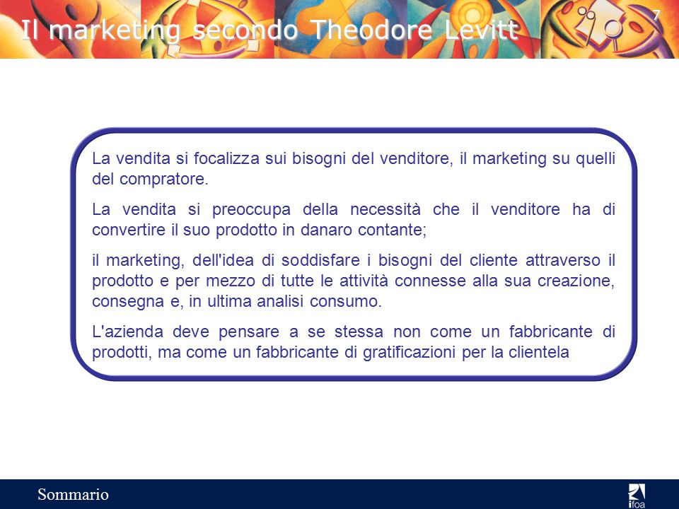 Il marketing secondo Theodore Levitt