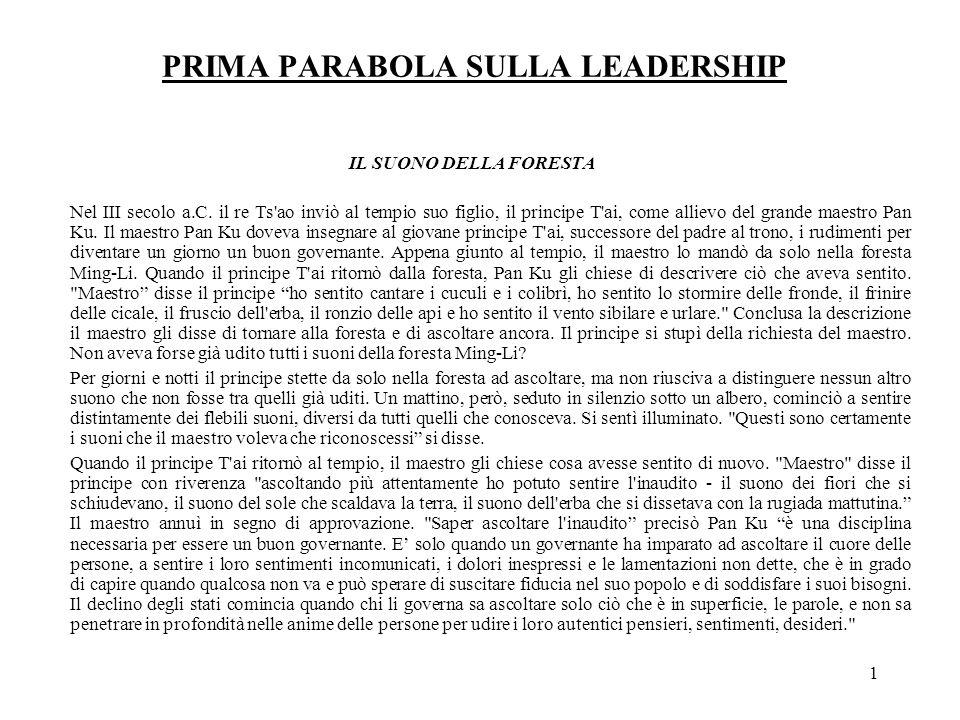PRIMA PARABOLA SULLA LEADERSHIP