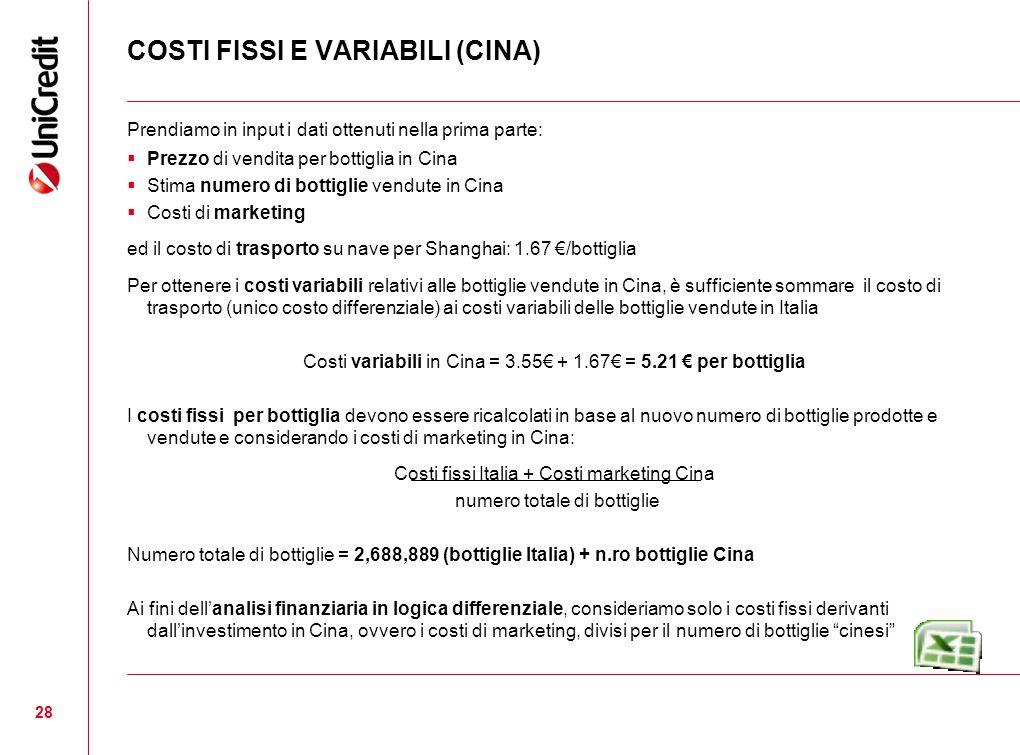 COSTI FISSI E VARIABILI (CINA)