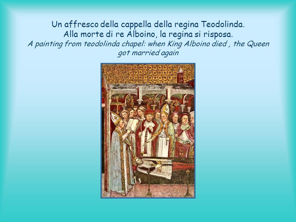 Un affresco della cappella della regina Teodolinda
