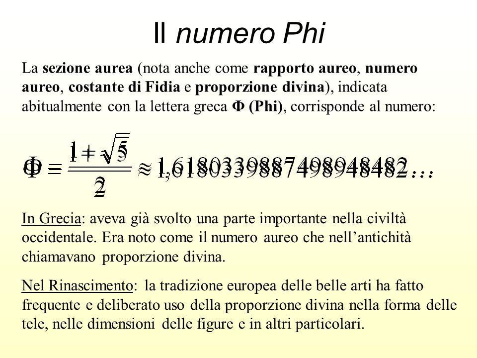 Il numero Phi