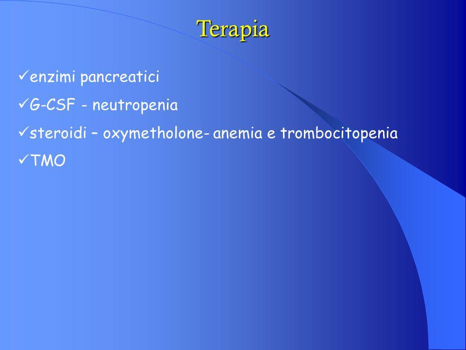 Terapia enzimi pancreatici G-CSF - neutropenia