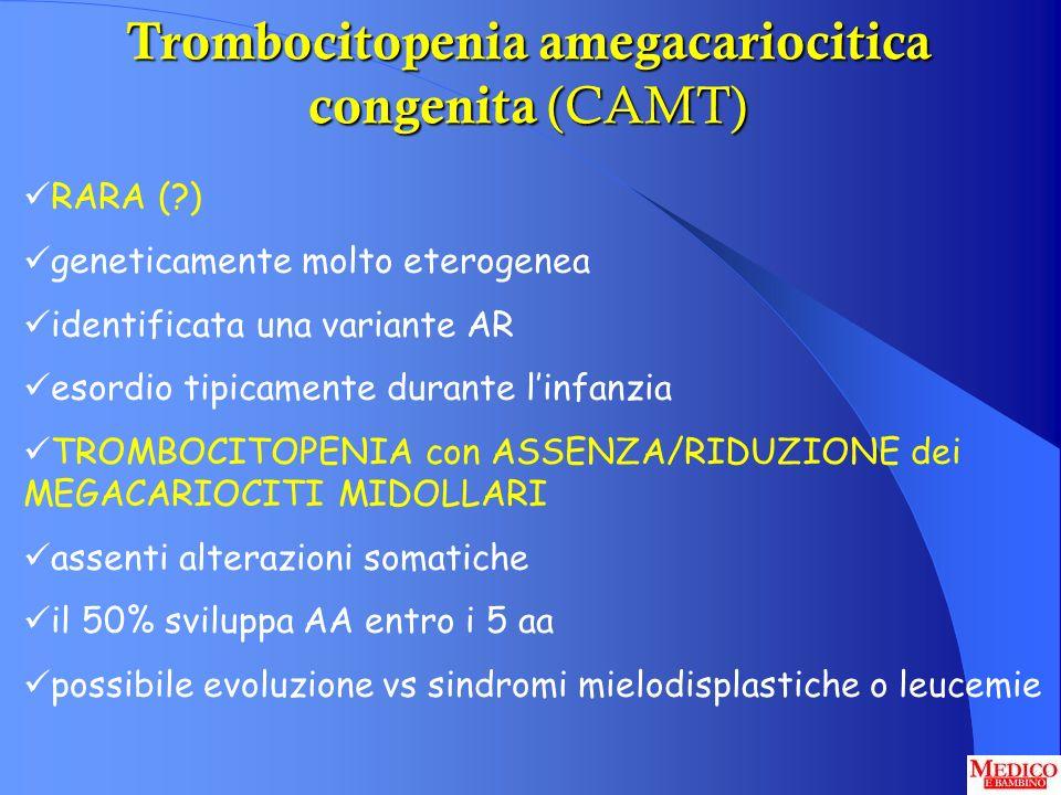 Trombocitopenia amegacariocitica congenita (CAMT)