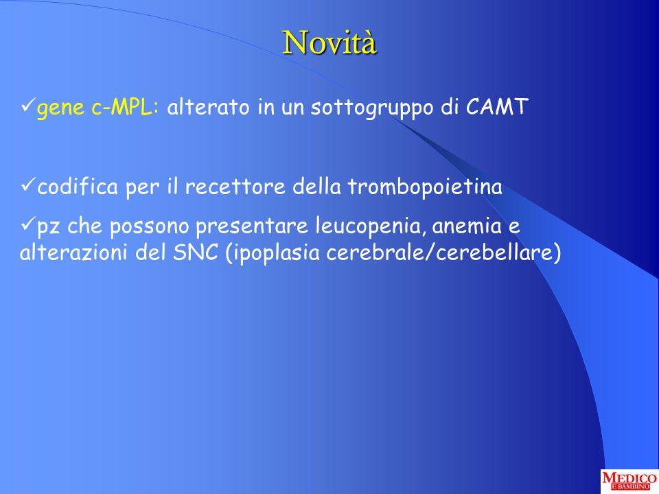 Novità gene c-MPL: alterato in un sottogruppo di CAMT