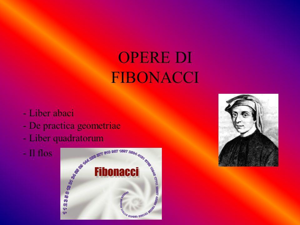 OPERE DI FIBONACCI - Liber abaci - De practica geometriae