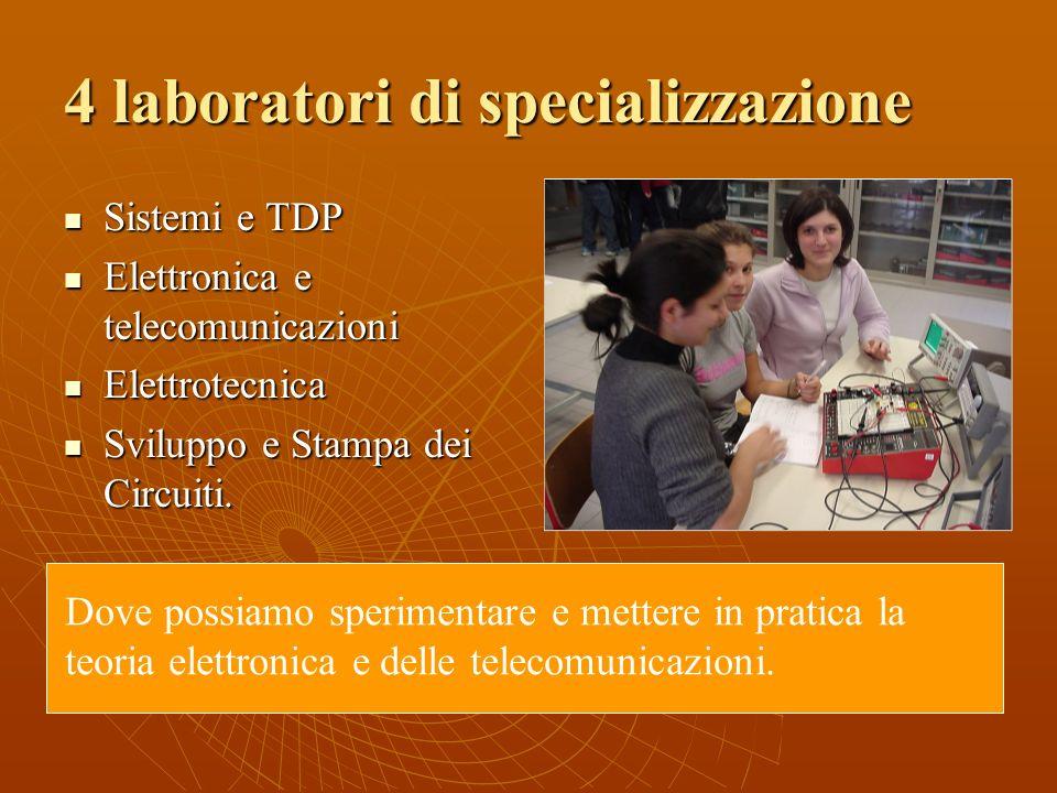 4 laboratori di specializzazione