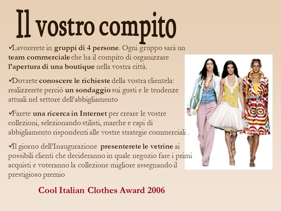 Cool Italian Clothes Award 2006