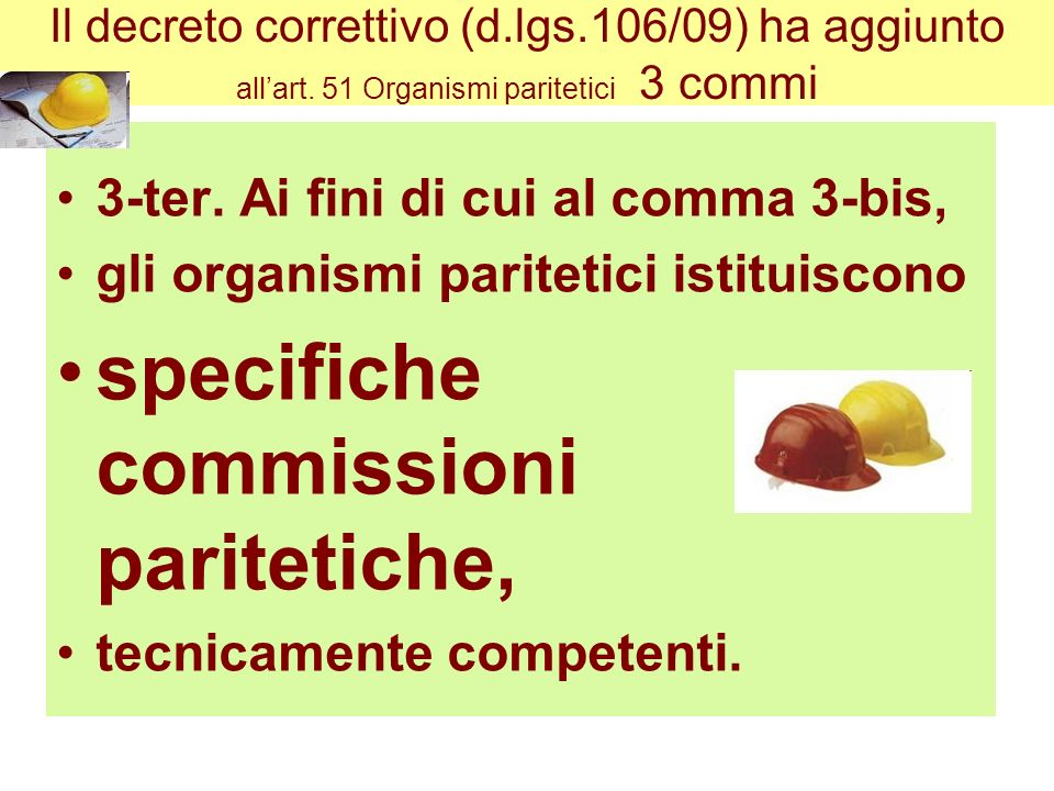 specifiche commissioni paritetiche,