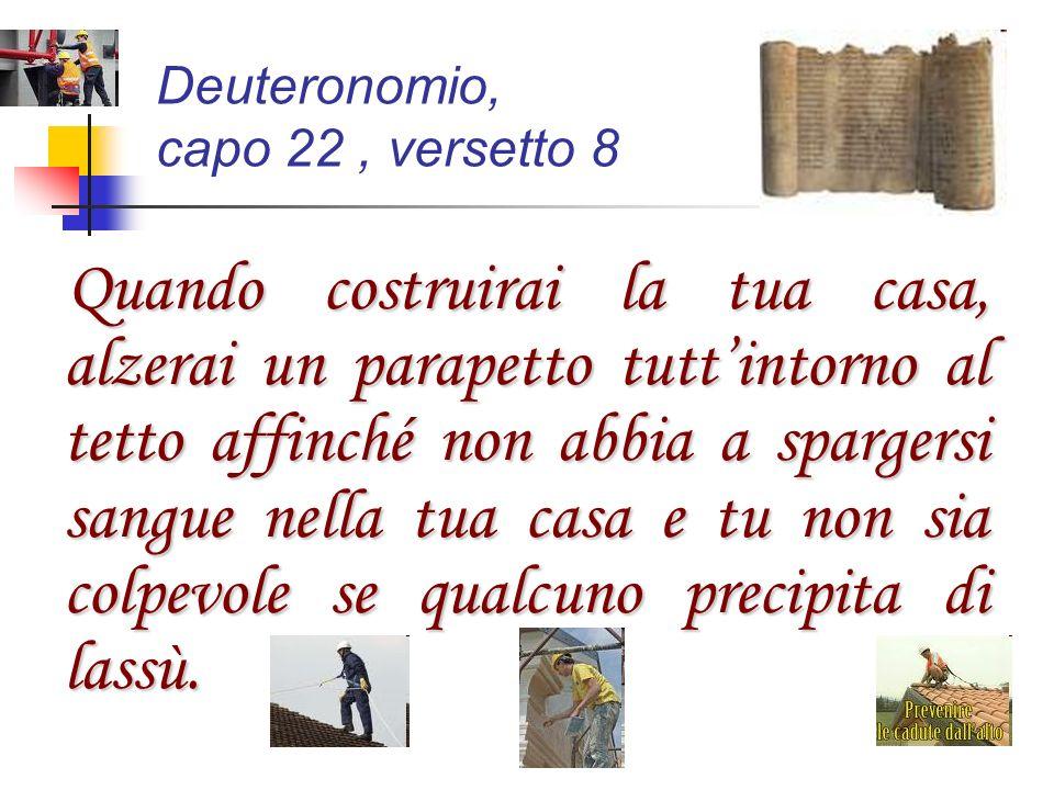 Deuteronomio, capo 22 , versetto 8