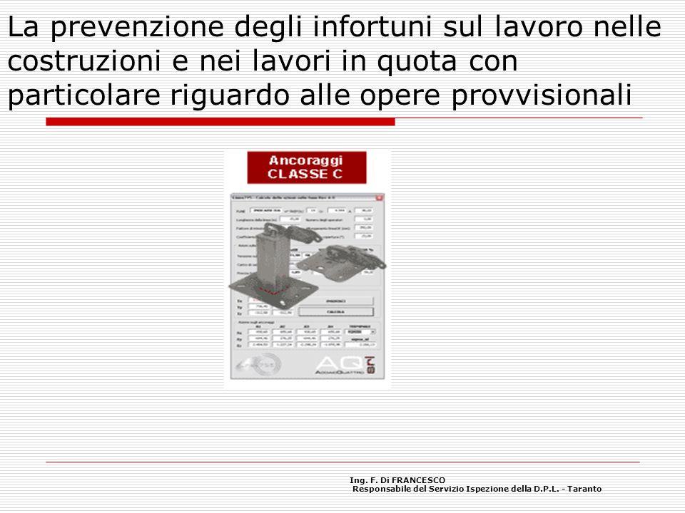 La prevenzione degli infortuni sul lavoro nelle costruzioni e nei lavori in quota con particolare riguardo alle opere provvisionali