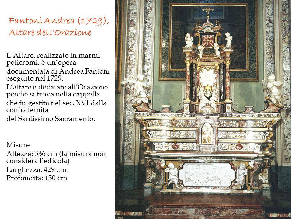 Fantoni Andrea (1729), Altare dell'Orazione