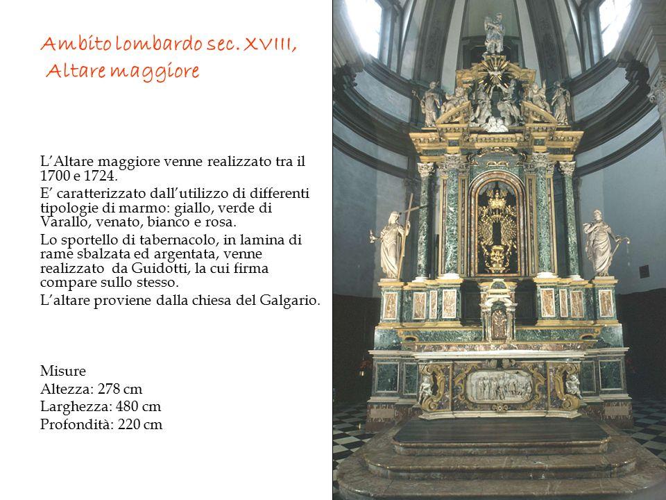 Ambito lombardo sec. XVIII, Altare maggiore