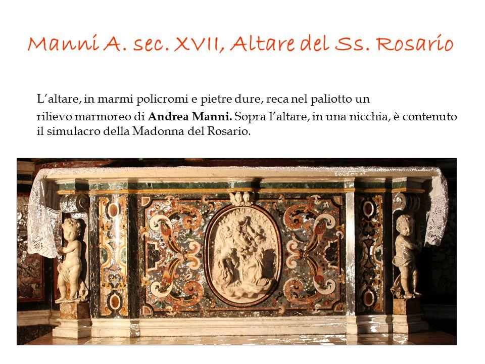 Manni A. sec. XVII, Altare del Ss. Rosario