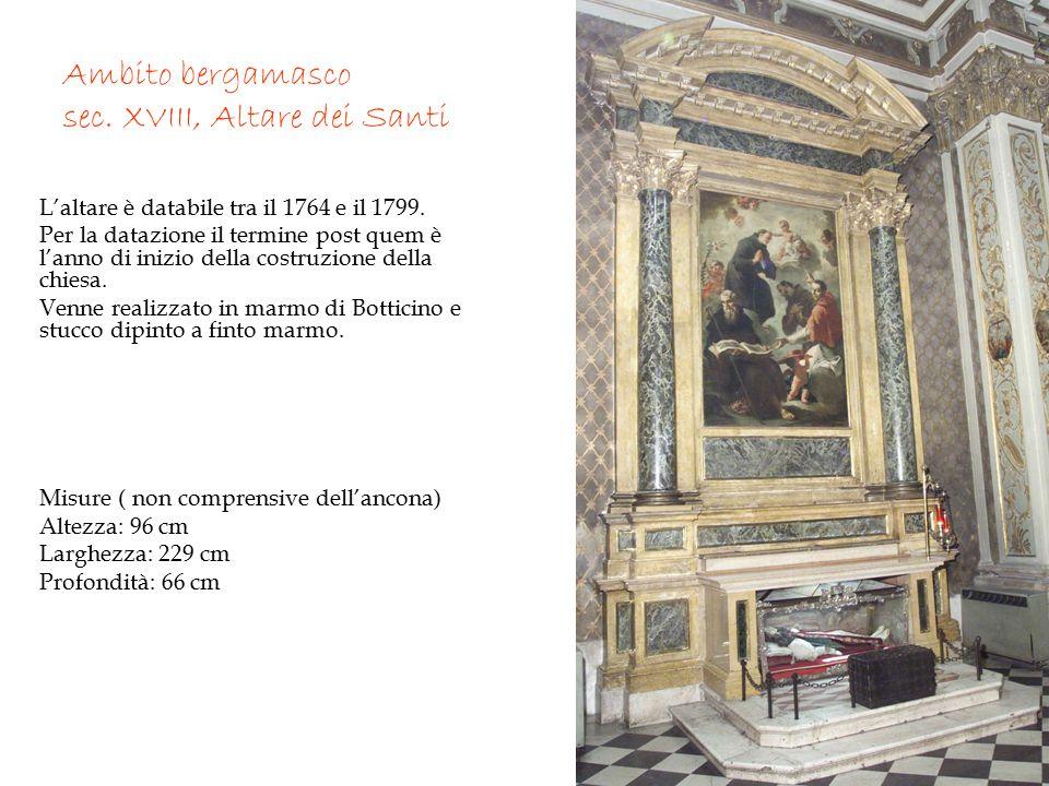 Ambito bergamasco sec. XVIII, Altare dei Santi