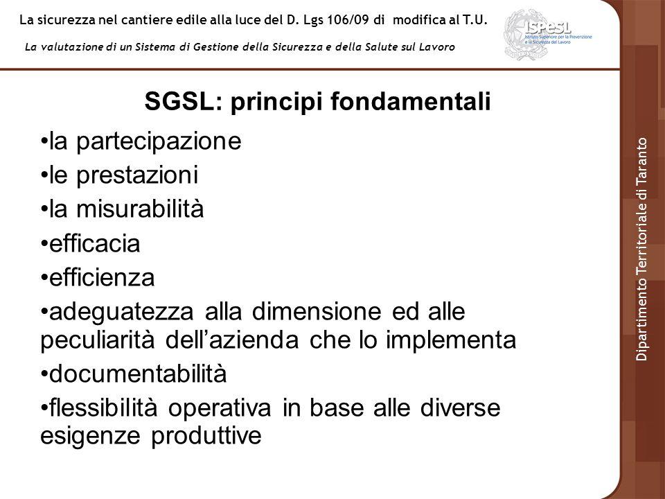 SGSL: principi fondamentali