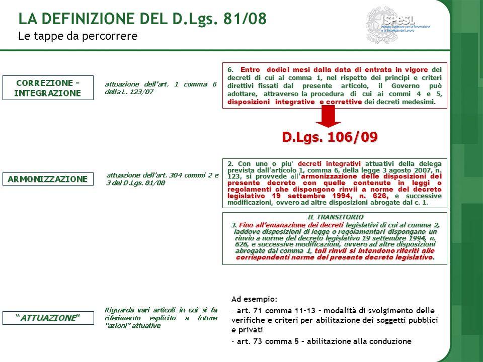 LA DEFINIZIONE DEL D.Lgs. 81/08