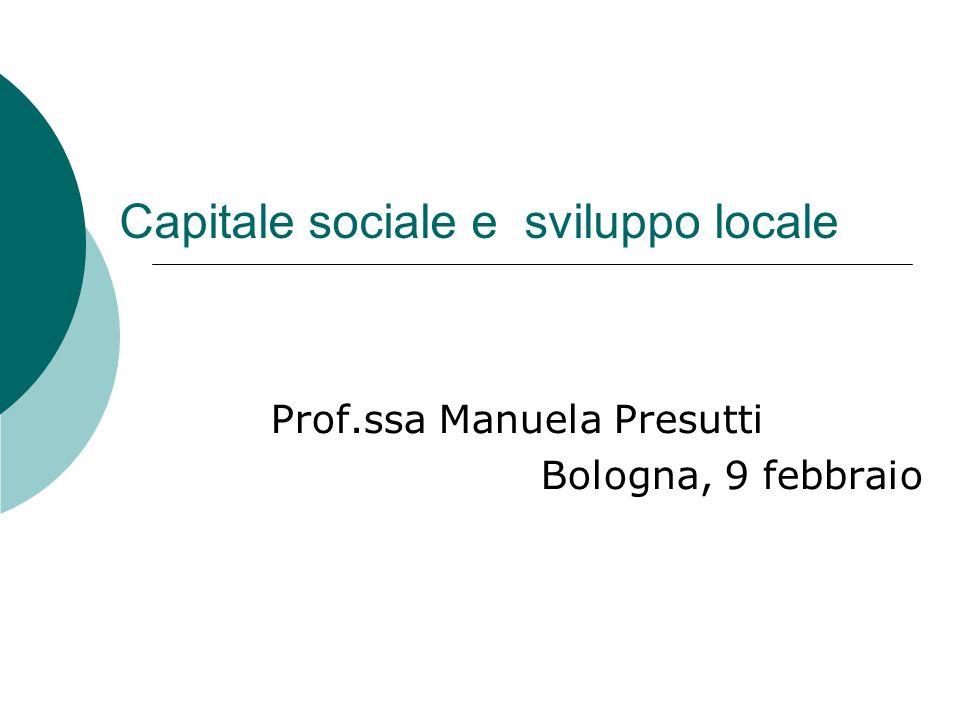 Capitale sociale e sviluppo locale