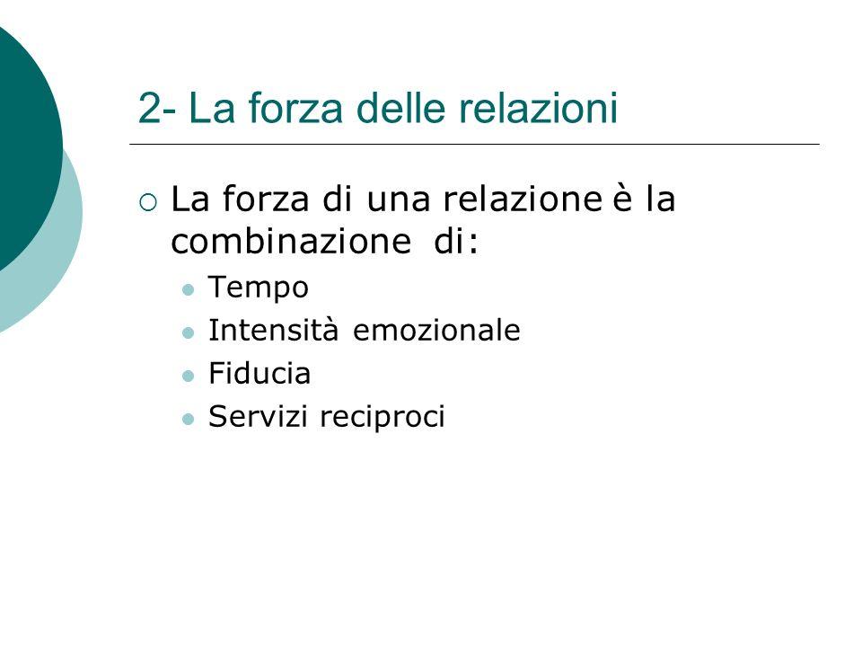 2- La forza delle relazioni