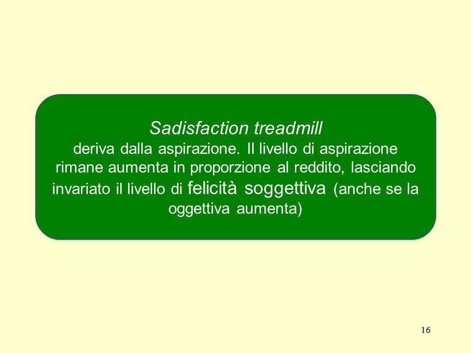 Sadisfaction treadmill