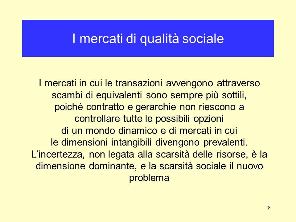 I mercati di qualità sociale
