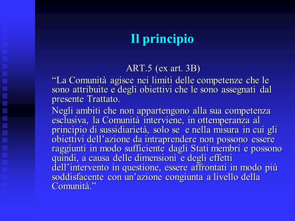 Il principio ART.5 (ex art. 3B)