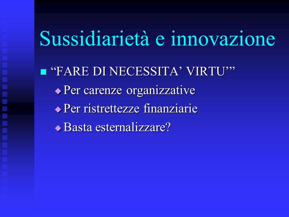 Sussidiarietà e innovazione