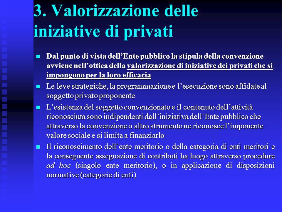 3. Valorizzazione delle iniziative di privati