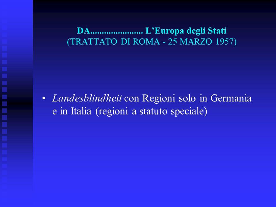 DA....................... L'Europa degli Stati (TRATTATO DI ROMA - 25 MARZO 1957)