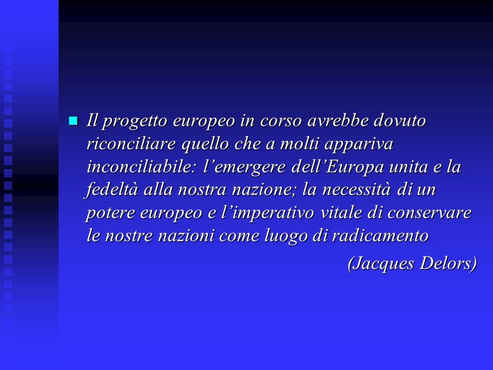 Il progetto europeo in corso avrebbe dovuto riconciliare quello che a molti appariva inconciliabile: l'emergere dell'Europa unita e la fedeltà alla nostra nazione; la necessità di un potere europeo e l'imperativo vitale di conservare le nostre nazioni come luogo di radicamento