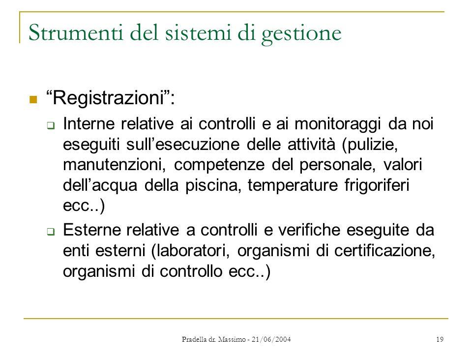 Strumenti del sistemi di gestione