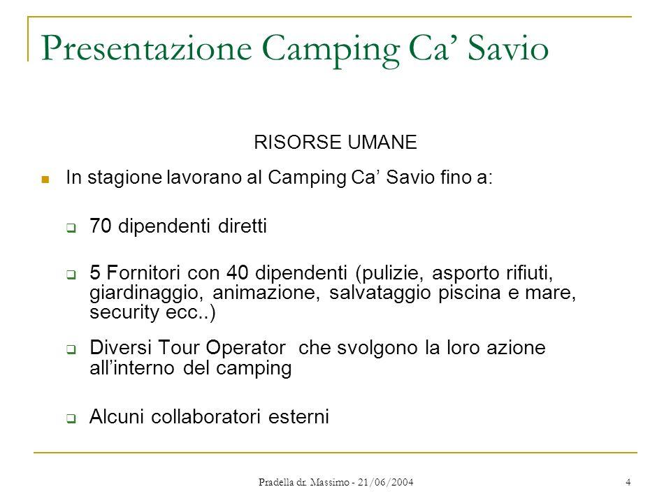Presentazione Camping Ca' Savio