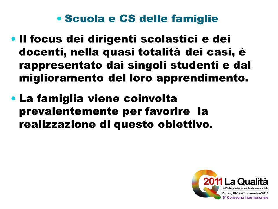 Scuola e CS delle famiglie